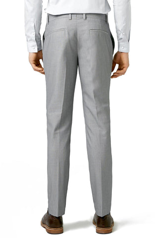 Topman - Skinny Fit Textured Grey Suit Trousers - shop on Greybox