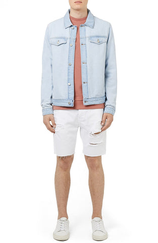 Topman - Two Tone Denim Jacket - shop on Greybox