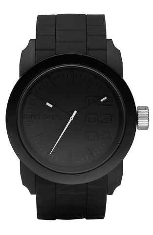 DIESEL® - 'Double Down' Round Silicone Strap Watch, 44mm - shop on Greybox