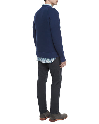 Fisher Crewneck Wool Sweater, Navy