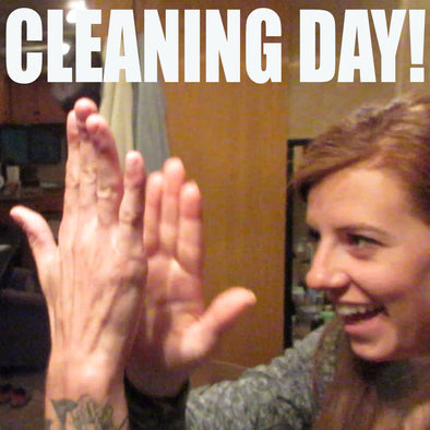 CLEANING OUT THE RV!