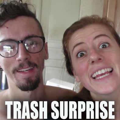 SURPRISE IN THE TRASH!