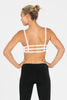 Barre 3 Strap Sports Bra - White