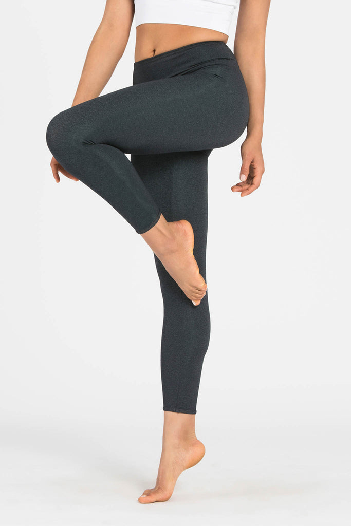 Plain Charcoal 7/8 Activewear & Yoga Legging