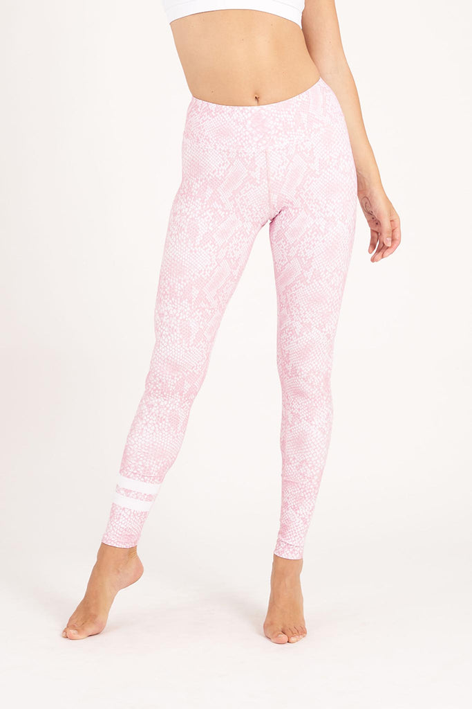 Pink Python High Waist Printed Yoga Legging - Full Length