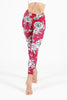 Rose Red High Waist Printed Legging - 7/8
