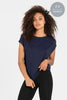 Bamboo Navy Luxe Layer Top