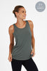 Bamboo Twisted Back Tee - Sage