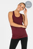 Bamboo Twisted Back Tee - Wine