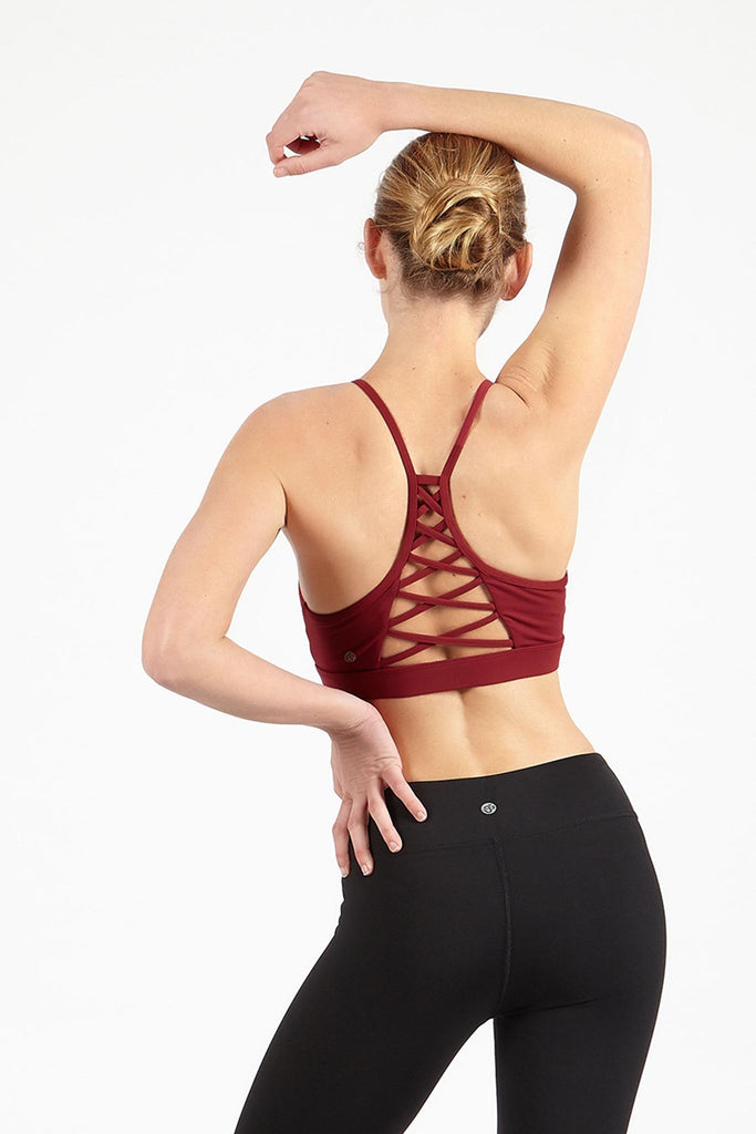 Criss Cross Bra - Cherry