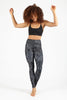 Snake Charmer High Waist Printed Yoga Legging - Full Length