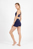 Beyond Basic Plain Supplex Shorts - Navy