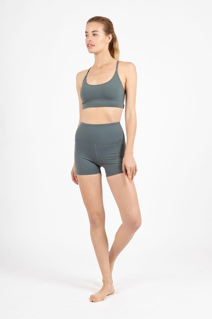 Beyond Basic Plain Supplex Shorts - Sage