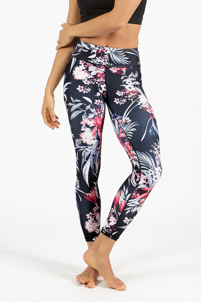 Floral Assembly High Waist Printed Legging - 7/8