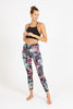 Deep Jungle High Waist Printed Legging - 7/8
