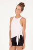 Bliss Tie Up Tank - Blush