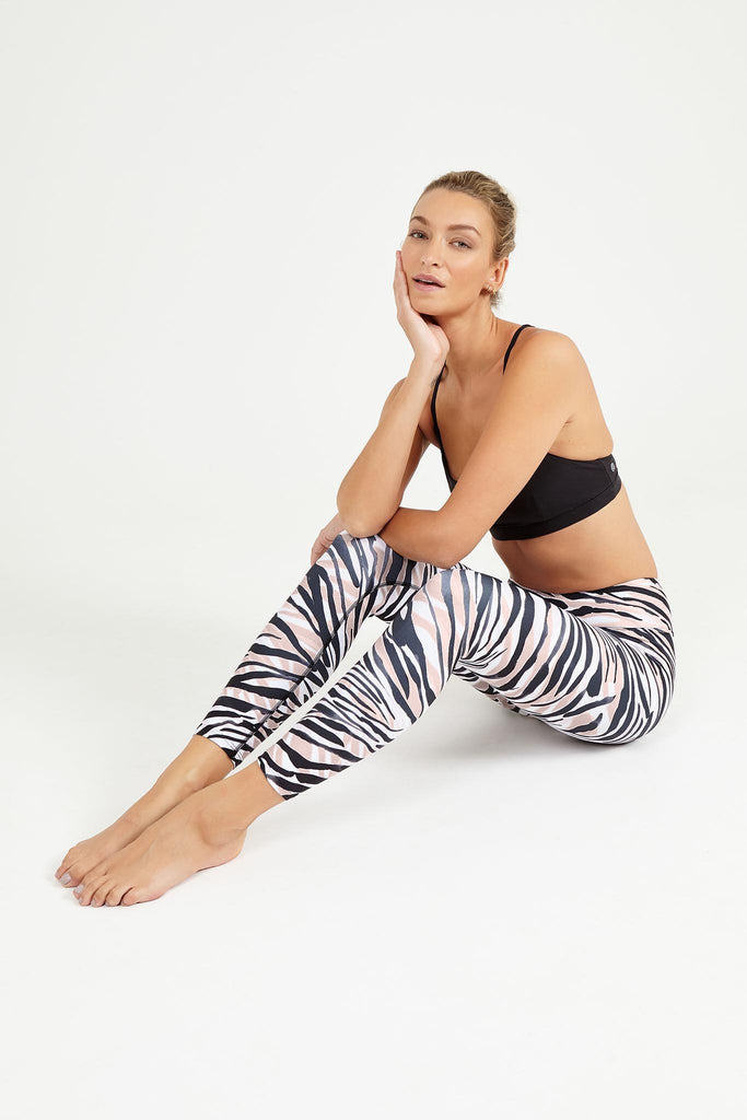 Savannah High Waist Printed Legging - 7/8