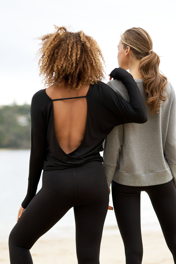 Amando Sweat Top - Black
