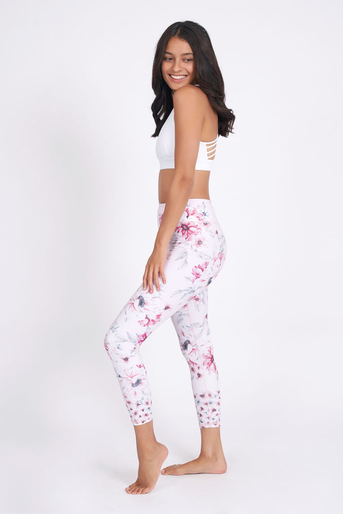 Sabrina Recycled High Waist Printed Legging - 7/8