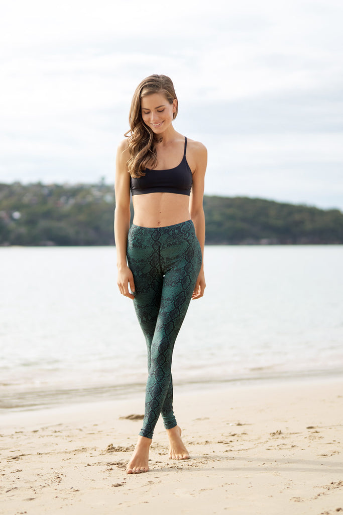 Tree Snake Recycled High Waist Printed Legging - 7/8