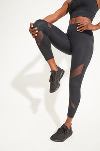 Limitless Mesh 7/8 Legging - Black