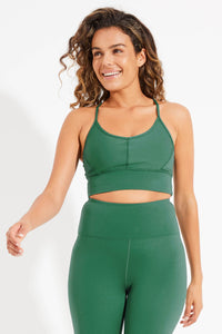 Wonder Luxe Ellis Crop Sports Bra - Jade