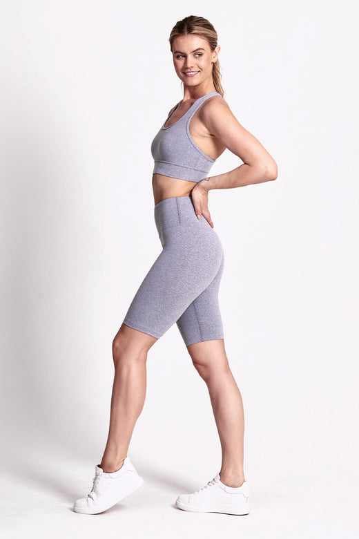 Ultra Luxe Bike Short - Cloud Grey Marle