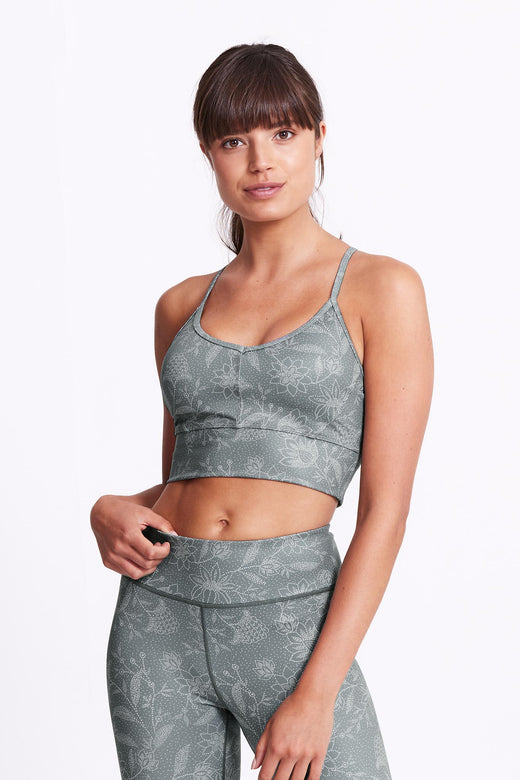Ella Crop Sports Bra - Ponzu