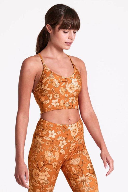Honey Kiss Printed Recycled Ella Crop Bra