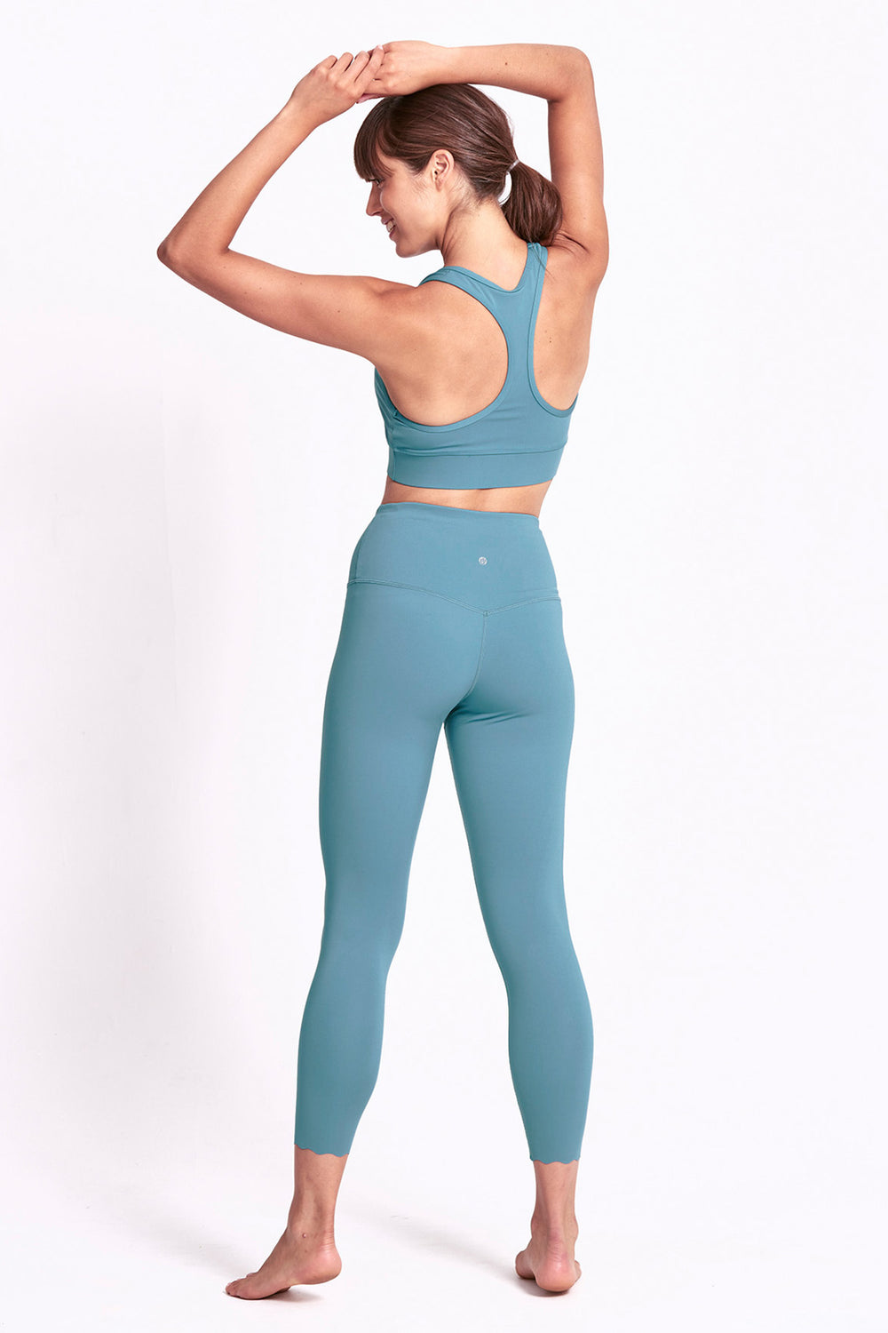 Scallop Legging 7/8 - Mineral Teal