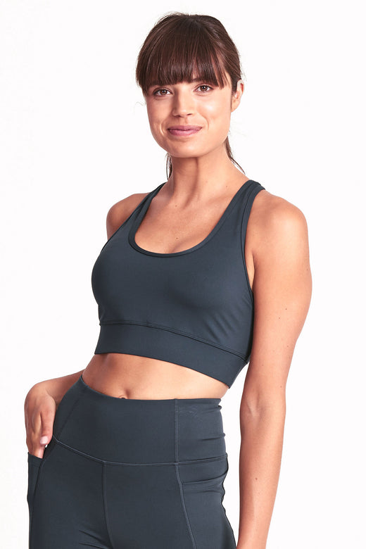 Racer Back Sports Bra - Deep Ocean
