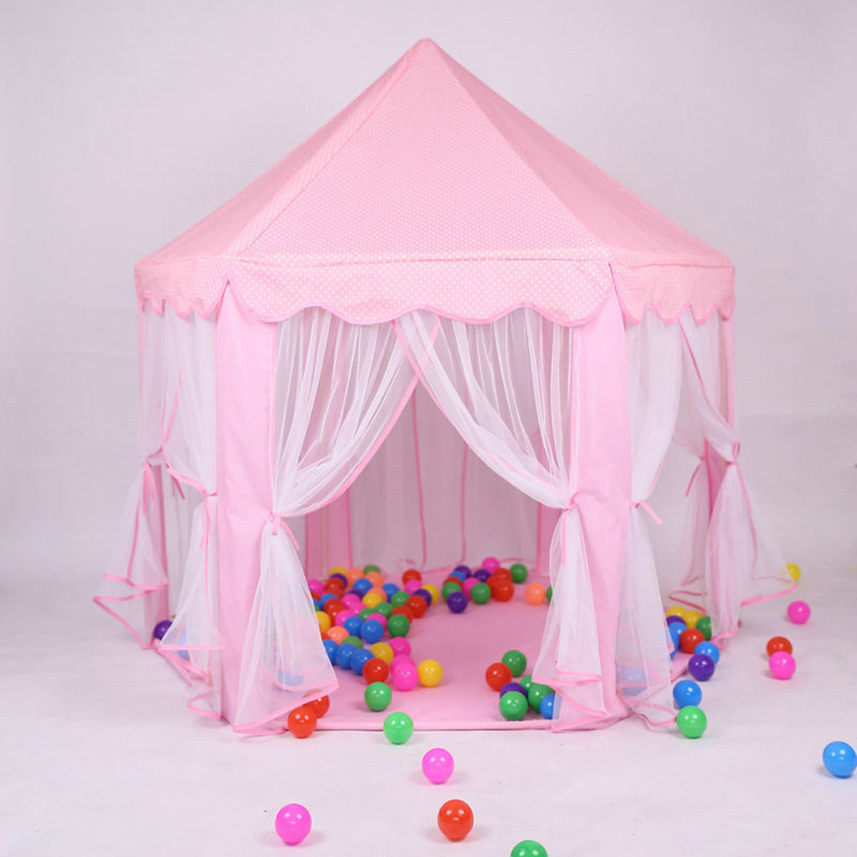 Girls Princess Castle Play Tent Large Playhouse Indoor Outdoor for KidsBalls Not IncludedBlue & Girls Princess Castle Play Tent Large Playhouse Indoor Outdoor for ...