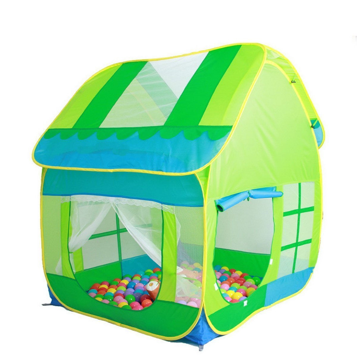 Truedays Kids Adventure Big Green Pop up Play Tent Indoor or Outdoor Tunnel Pool Ball Not Include u2026  sc 1 st  TRUEDAYS & Truedays Kids Adventure Big Green Pop up Play Tent Indoor or ...
