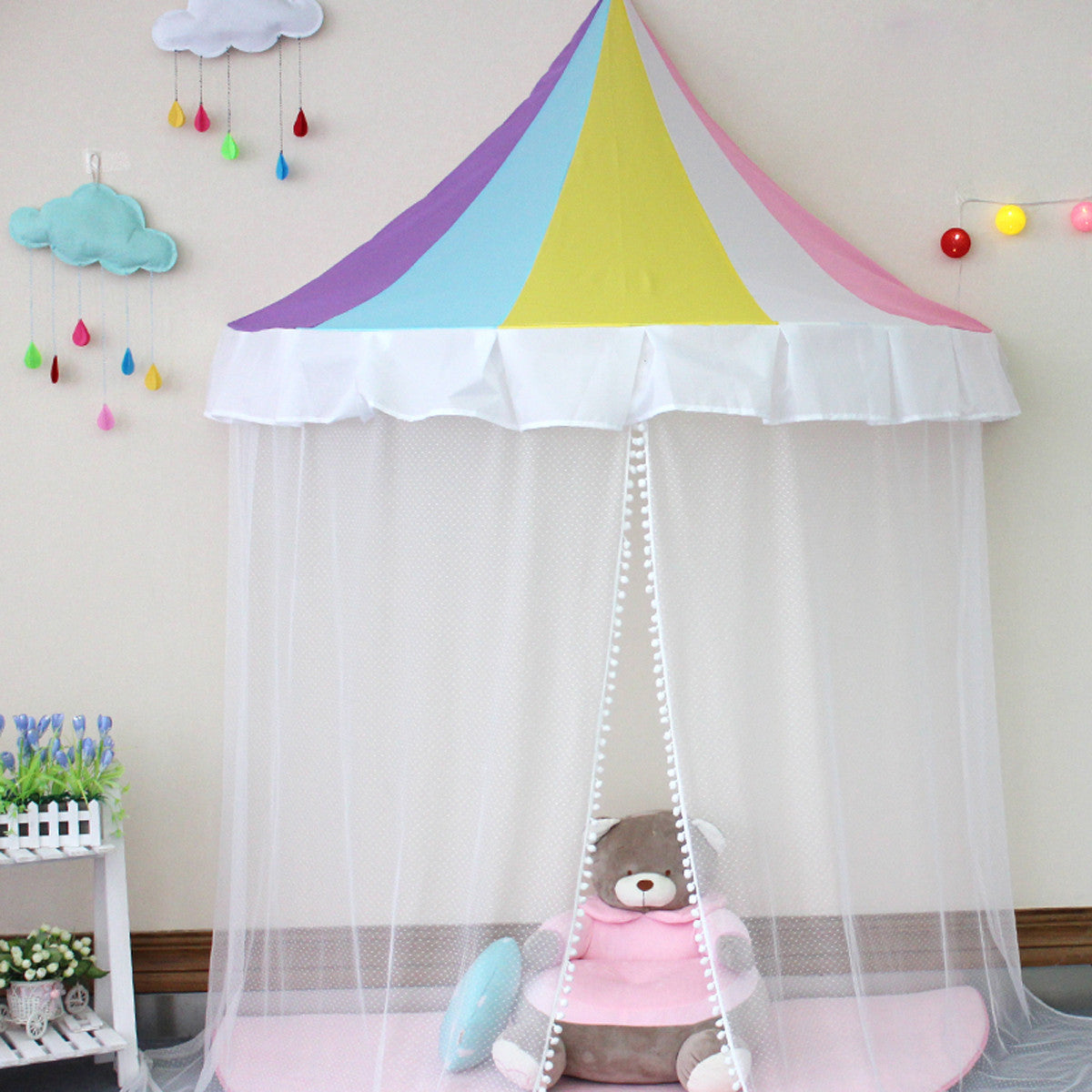 Princess Bed Canopy Reading Corner for Kids Indoor  sc 1 st  TRUEDAYS : corner canopy bed - memphite.com