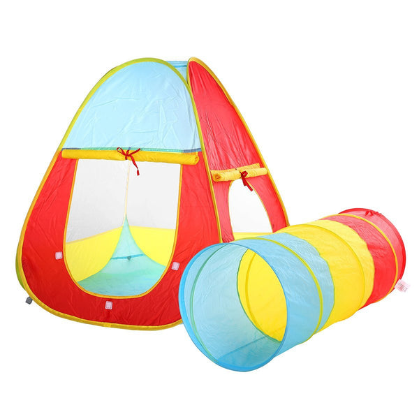 2 in 1 Childrenu0027s Playground Play Tent House and Tube Tunnel for ...  sc 1 st  TRUEDAYS & Kids play tent | indoor play tent | Ball pit | Play tunnel u2013 TRUEDAYS