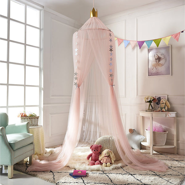 Mosquito Net Bed Canopy Round Lace Dome Netting Hanging Curtains for Kids Indoor & Dome Princess Bed Canopy Bed Curtain Mosquito Net Children Room ...
