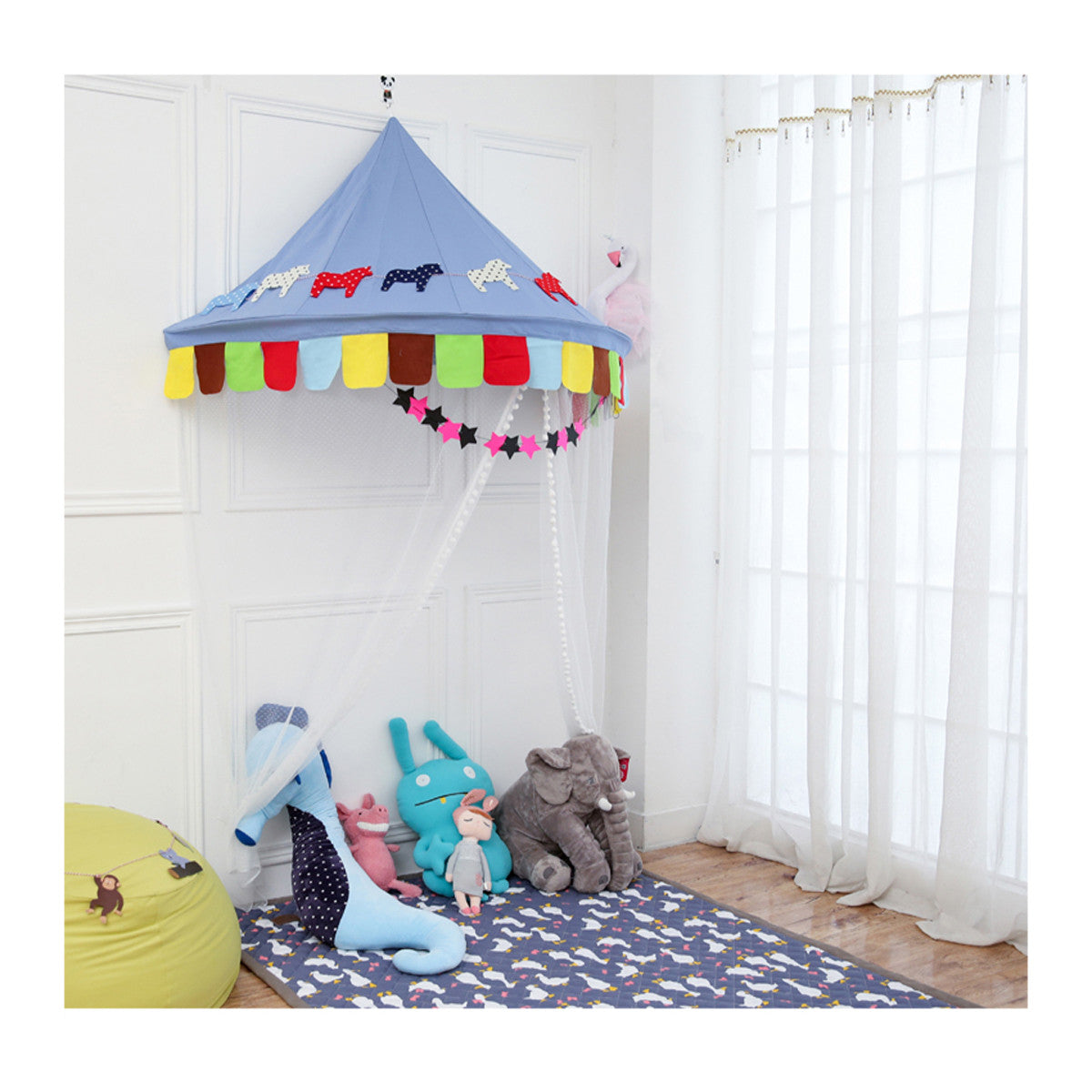 low priced a3348 0e7d8 Princess Bed Canopy Reading Corner for Kids Indoor