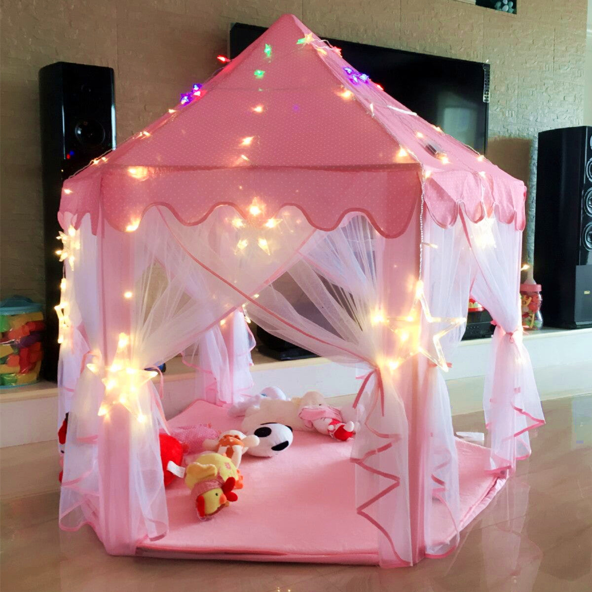 Girls Princess Castle Play Tent Large Playhouse Indoor Outdoor for KidsBalls Not Included ... & Girls Princess Castle Play Tent Large Playhouse Indoor Outdoor for ...