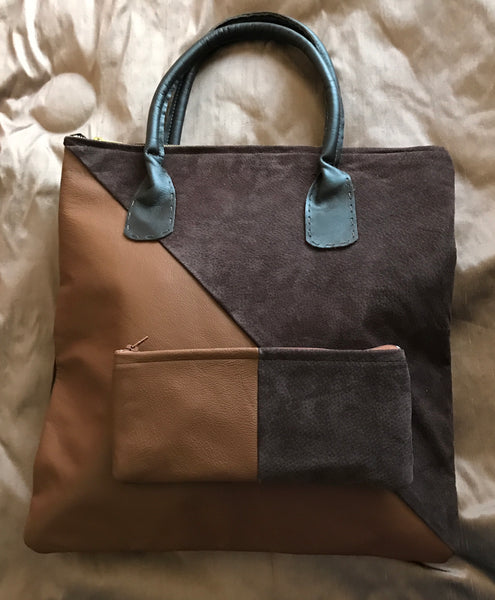 Diagonal two tone with purse