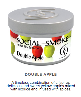 Double Apple - 250g -  vandpibe tobak - Caesar Shisha