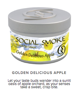Golden Delicious Apple -  vandpibe tobak - Caesar Shisha