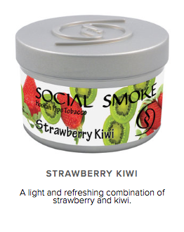 Strawberry Kiwi -  vandpibe tobak - Caesar Shisha