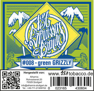 #008 - Green GRIZZLY (Ice Pære)