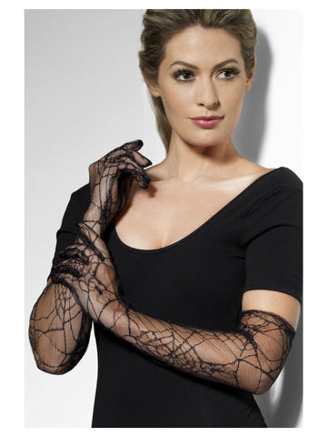 Black Spider Lace Gloves