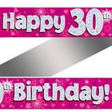 Pink Birthday Banners