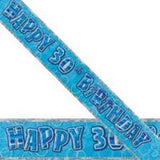 Blue Birthday Banners
