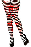 Bloody Candy Stripe Tights