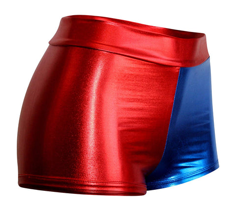Red and Blue Hotpants (Harley Quinn) Adult size