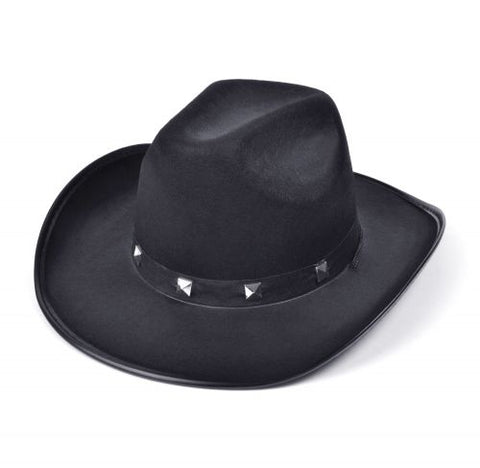 Black Studded Cowboy Hat