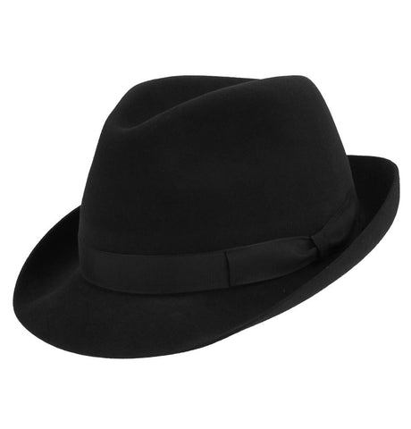 Small Black Trilby Hat